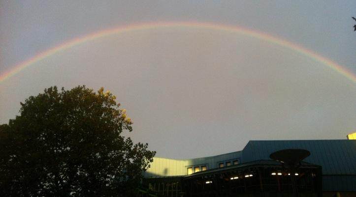 Regenbogen über der Uni Konstanz
